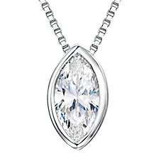 Buy Jools by Jenny Brown Rhodium Plated Sterling Silver Cubic Zirconia Pendant, Silver Online at johnlewis.com