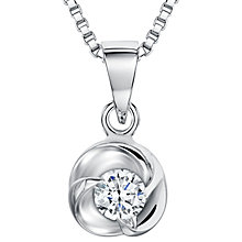 Buy Jools by Jenny Brown Sterling Silver Cubic Zirconia Small Triple Wave Pendant, Rhodium Online at johnlewis.com