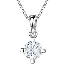 Buy Jools by Jenny Brown Cubic Zirconia Pendant, Silver Online at johnlewis.com