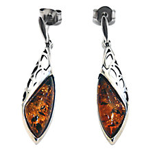 Buy Goldmajor Amber and Sterling Silver Drop Earrings, Amber Online at johnlewis.com