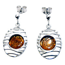 Buy Goldmajor Amber and Sterling Silver Lattice Drop Earrings, Silver/Amber Online at johnlewis.com