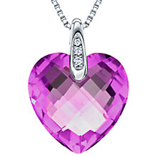 Buy Jools by Jenny Brown Rhodium Plated Silver Cubic Zirconia Heart Shaped Pendant Online at johnlewis.com