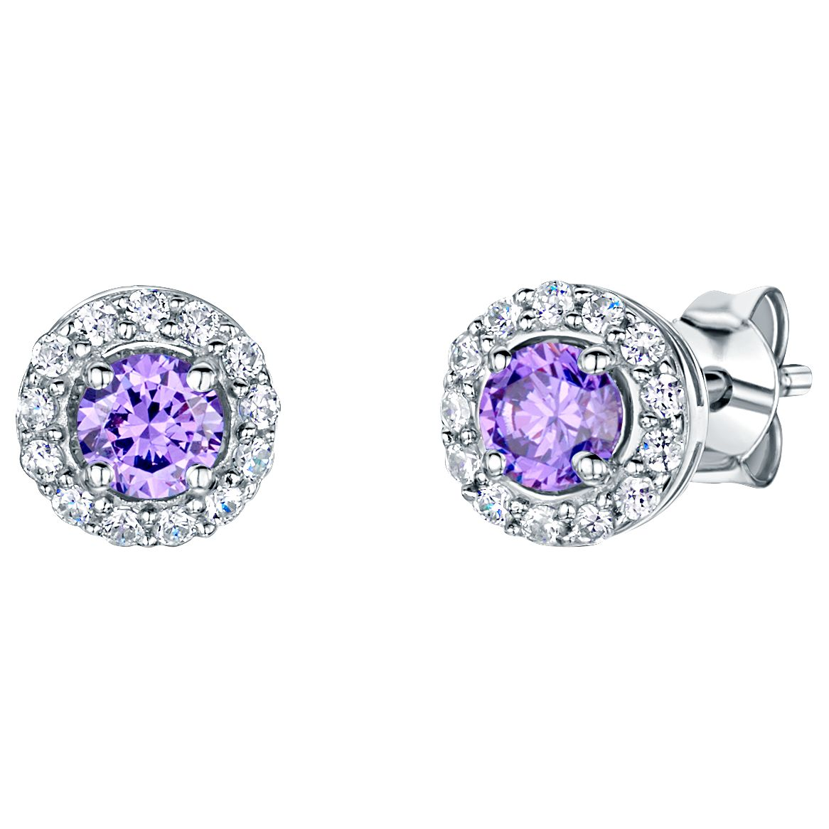 Jools by Jenny Brown Jools by Jenny Brown Pavé Surround Round Cubic Zirconia Stud Earrings