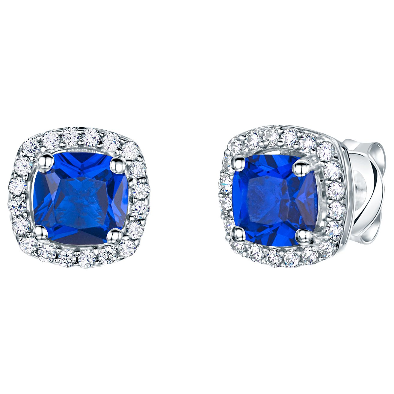 Jools by Jenny Brown Jools by Jenny Brown Pavé Surround Cushion Square Cubic Zirconia Stud Earrings
