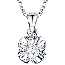 Buy Jools by Jenny Brown Sterling Silver Cubic Zirconia Flower Pendant, Silver Online at johnlewis.com