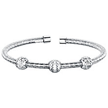 Buy Jools by Jenny Brown Rhodium Plated Silver and Cubic Zirconia Single Band Bangle, Silver Online at johnlewis.com