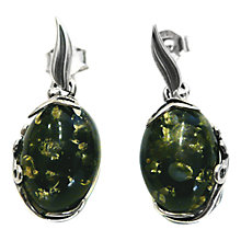 Buy Goldmajor Green Amber and Sterling Silver Earrings, Silver/Green Online at johnlewis.com