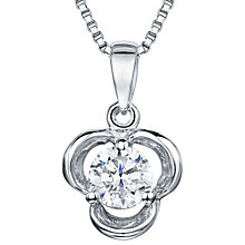 Buy Jools by Jenny Brown Cubic Zirconia Large Pendant, Silver Online at johnlewis.com
