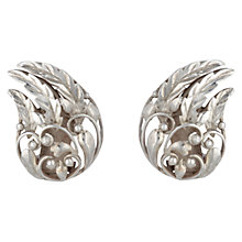 Buy Sharon Mills Vintage 1950s Leaves & Scrolls Clip-On Earrings, Silver Online at johnlewis.com