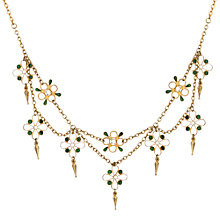 Buy Sharon Mills Vintage 1920s Silver Gilt Plique a Jour Necklace, Silver Online at johnlewis.com