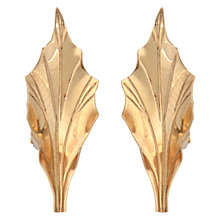 Buy Sharon Mills Vintage 1950s 14ct Gold Leaf Clip-On Earrings, Gold Online at johnlewis.com