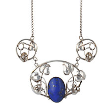 Buy Sharon Mills Vintage 1992 Silver Lapis Leaf Necklace, Silver Online at johnlewis.com