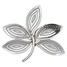 Buy Sharon Mills Vintage Aarre & Kroug Silver Five Leaf Brooch, Silver Online at johnlewis.com