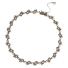 Buy Sharon MIlls Vintage 1950s Marcasite Floral Necklace, Silver Online at johnlewis.com