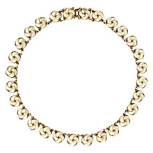 Buy Sharon Mills Vintage Silver Gilt Enamel Necklace, Silver Online at johnlewis.com
