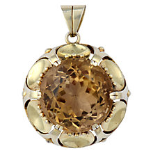 Buy Sharon Mills Vintage Silver Gilt Citrine Pendant, Silver Online at johnlewis.com