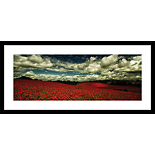 Buy Paul Sanders - Bewdley Poppies Framed Print, 49 x 104cm Online at johnlewis.com