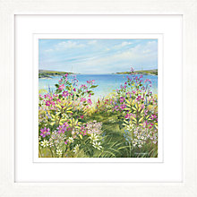 Buy Diane Demirci - Cliff Top Path Framed Print, 57 x 57cm Online at johnlewis.com