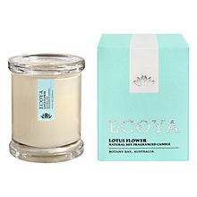 Buy Ecoya Mini Metro Jar Lotus Flower Candle Online at johnlewis.com