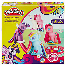 Buy Play-Doh My Little Pony Make N Style Ponies Online at johnlewis.com