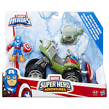 Buy Marvel Super Hero Adventures Playskool Superhero Vehicle & Figurine, Assorted Online at johnlewis.com