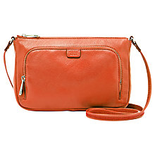 Buy Fossil Riley Mini Leather Across Body Bag, Monarch Online at johnlewis.com