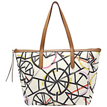 Buy Fossil Sydney Printed Shopper Bag, Bright Multi Online at johnlewis.com