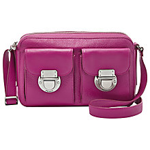 Buy Fossil Riley Leather Top Zip Shoulder Bag Online at johnlewis.com