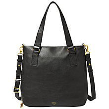 Buy Fossil Preston Leather Shopper Bag, Black Online at johnlewis.com