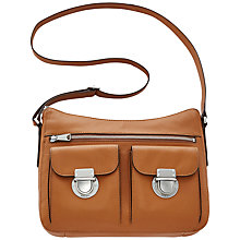 Buy Fossil Riley Leather Hobo Bag, Camel Online at johnlewis.com