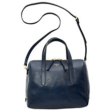 Buy Fossil Sydney Leather Satchel, Heritage Blue Online at johnlewis.com