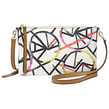 Buy Fossil Sydney Leather Across Body Clutch Bag, Bright Multi Online at johnlewis.com