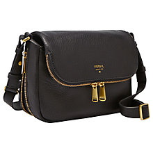 Buy Fossil Preston Leather Small Flap Cross Body Bag Online at johnlewis.com