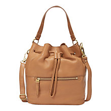 Buy Fossil Vickery Leather Drawstring Satchel Bag Online at johnlewis.com