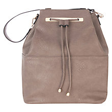 Buy Oasis Dani Drawstring Handbag, Mid Grey Online at johnlewis.com