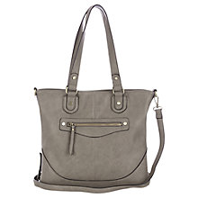 Buy Oasis Sandy Satchel Handbag, Mid Grey Online at johnlewis.com