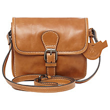 Buy White Stuff Claire Leather Across Body Bag, Tan Online at johnlewis.com