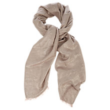 Buy Oasis Animal Jacquard Scarf, Gold Online at johnlewis.com