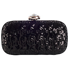 Buy Chesca Sequin Clutch Bag, Black / Gold Online at johnlewis.com