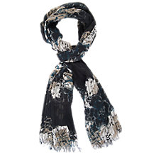 Buy Chesca Floral Print Scarf, Navy Online at johnlewis.com