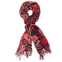 Buy Chesca Striped Floral Crinkle Scarf Online at johnlewis.com