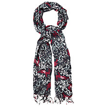 Buy White Stuff Multi Hare Print Scarf, Black Online at johnlewis.com
