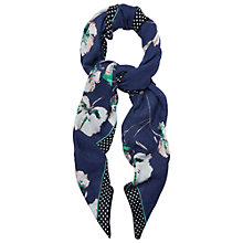Buy Phase Eight Gina Scarf, Navy Online at johnlewis.com
