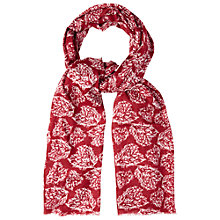 Buy White Stuff Fern Heart Scarf, Red Online at johnlewis.com