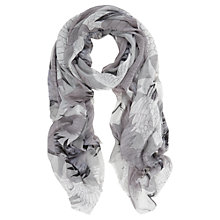 Buy Mint Velvet Reina Print Scarf, Dove Grey / Ivory Online at johnlewis.com
