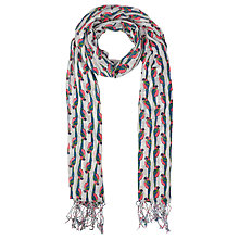 Buy John Lewis Linear Parrot Scarf, Multi Online at johnlewis.com