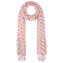 Buy John Lewis Flamingo Cotton Scarf, Pink Online at johnlewis.com