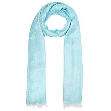 Buy John Lewis Basketweave Scarf, Turquoise Online at johnlewis.com
