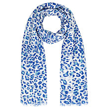 Buy John Lewis Animal Print Scarf, Blue Online at johnlewis.com