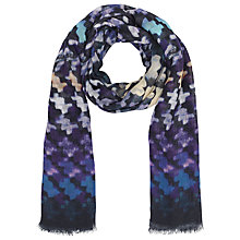 Buy John Lewis Dogtooth Scarf, Black Online at johnlewis.com